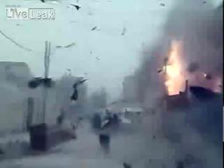 Взрыв при выстреле из РПГ - Прямо в пекло, к своему пиздалаху :-)